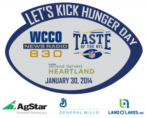 Kick Hunger Day 2014 with Sponsors Logo