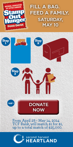 Stamp Out Hunger Steps and Donate